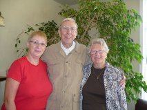Carol Findlay with Michael and Helen Tomlinson